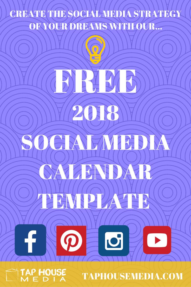 Free  Social Media Calendar L Tap House Media L Dover Nh