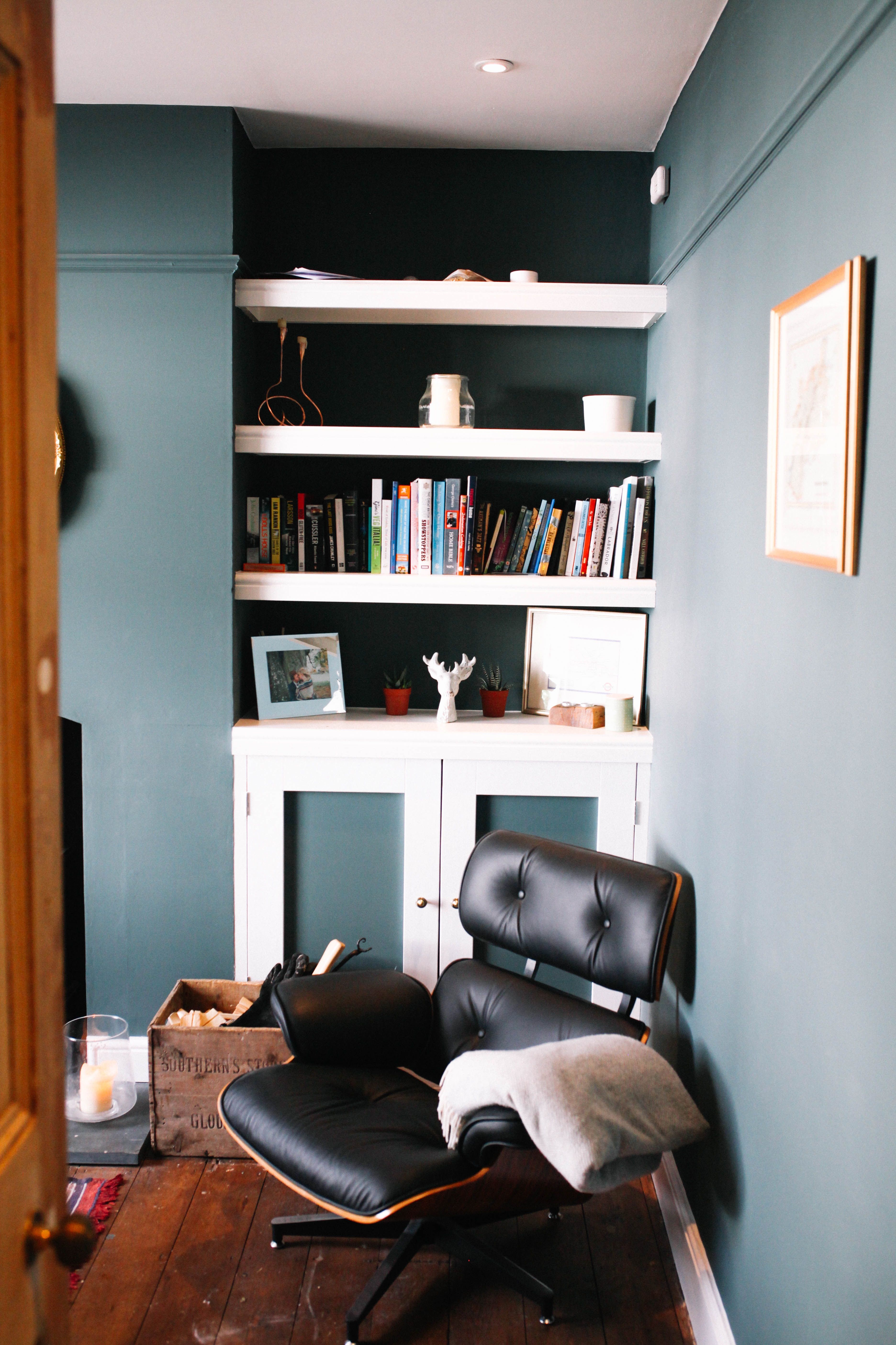 living room wall paint colors%0A Living Room in Farrow and Ball Inchyra Blue