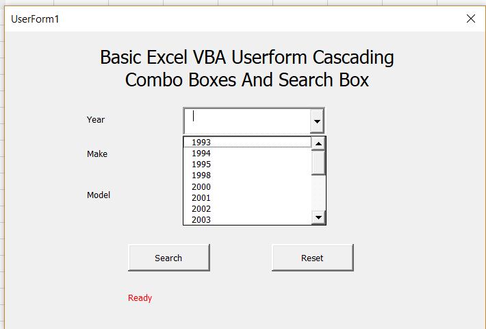 Excel Vba Open Userform