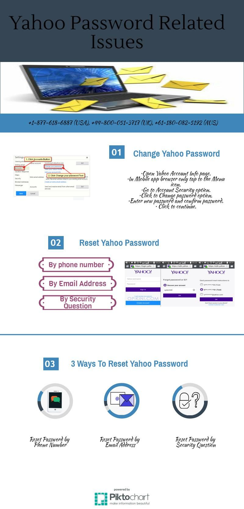 changing yahoo password on android