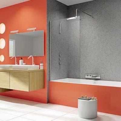 Pare-bains de douche Kinedo pour baignoires - fixe, pivotant, repliable - nombreuses largeurs, �paisseur et finition de verre et aluminium