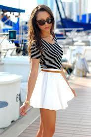 2461323f0 modelos de faldas cortas | 2015 | Faldas blancas, Faldas y Ropa de moda