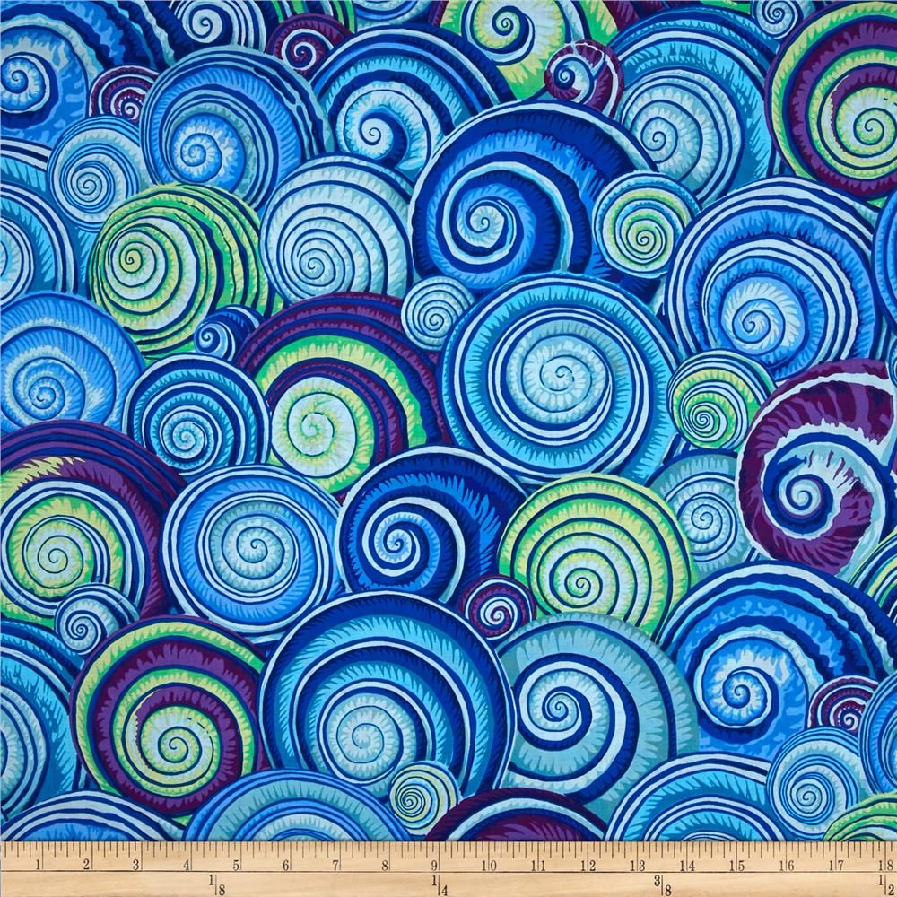 Kaffe Fassett Spiral Shells Blue From Fabricdotcom