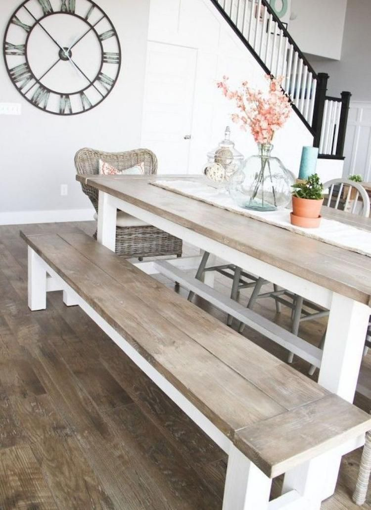 pin by quentine decor on dining room rustic farmhouse table home rh pinterest com