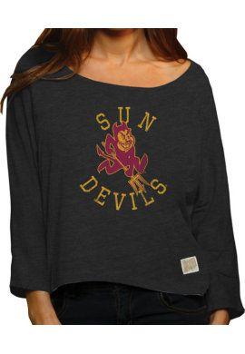 Product  Arizona State University Sun Devils Women s Long Sleeve Hi-Lo T- Shirt 8c0aec9a1