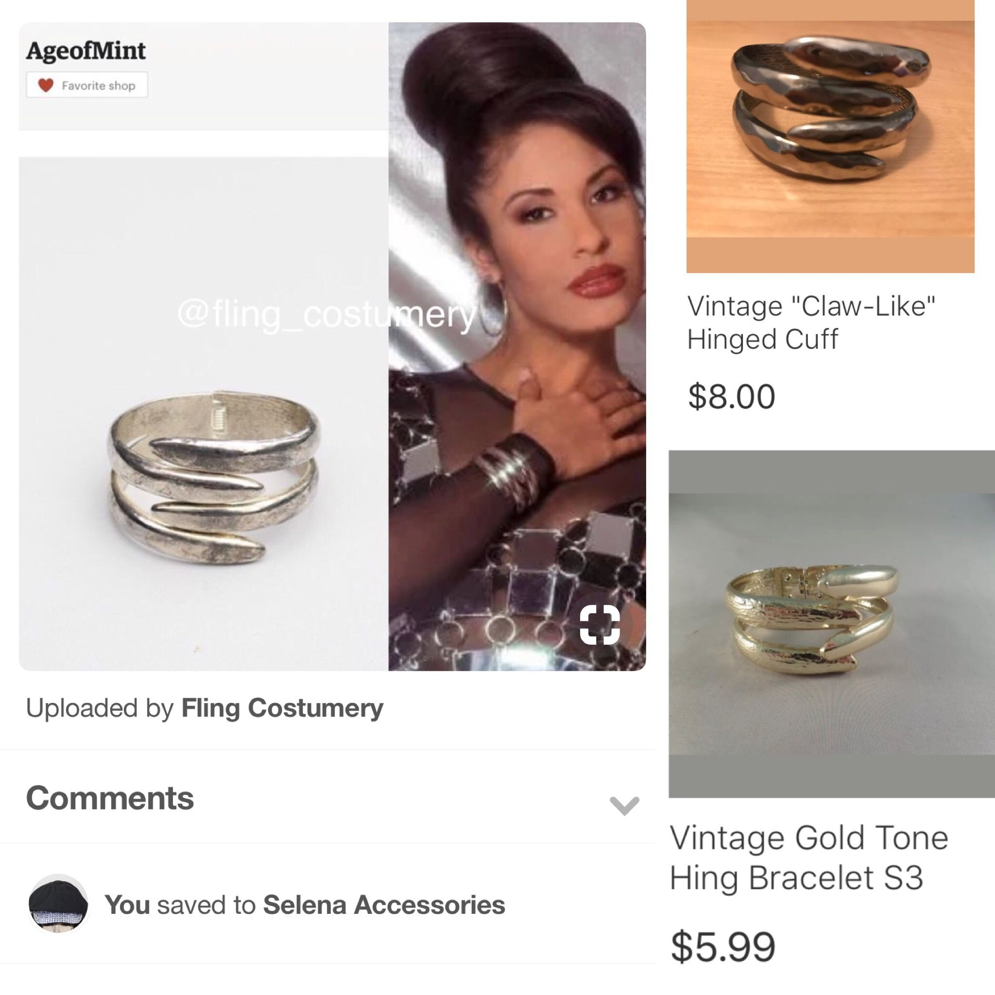 Pin By Fling Costumery On Selena Accessories Selena Quintanilla Fashion Selena Selena Quintanilla