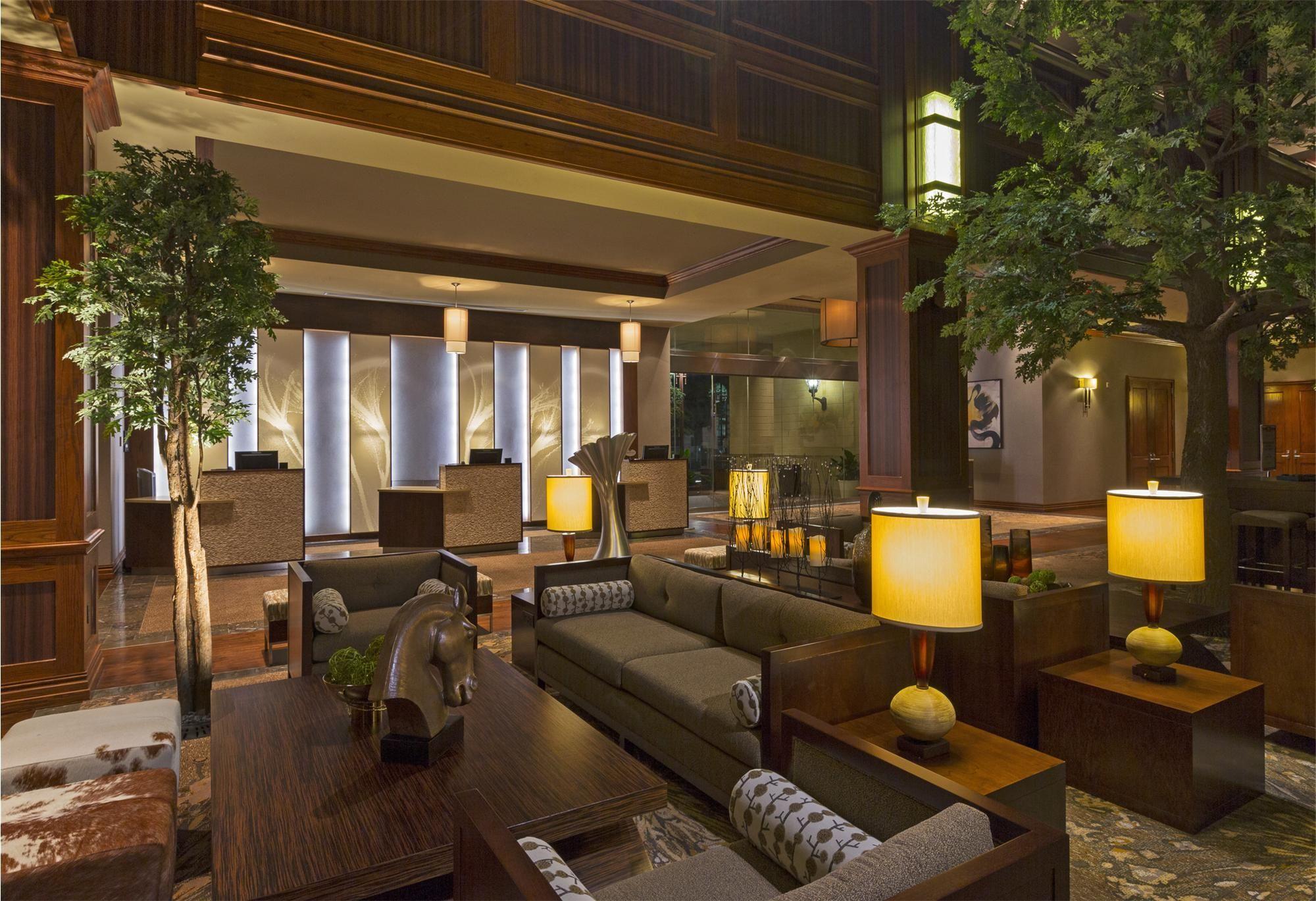 westin houston hotels front desk pods and backdrop use of wood on rh pinterest com