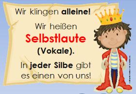 deutsch in der grundschule selbstlaute merkplakat
