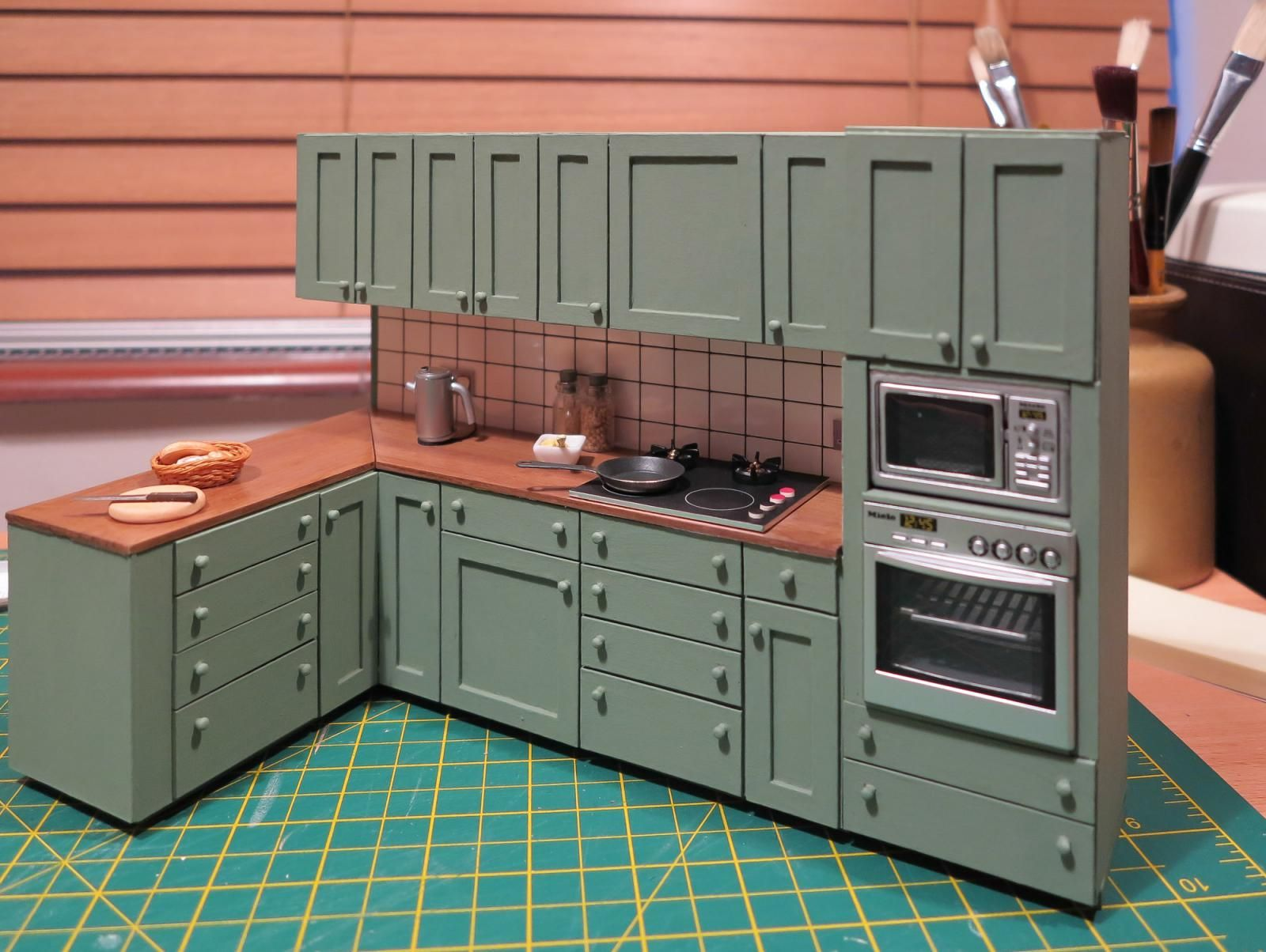 Members Gallery The Greenleaf Miniature Community Doll House Miniature Kitchen Doll House Plans