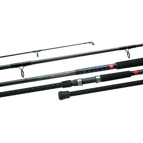Emcast Surf Spinning Rod - 8' Length, 2 Piece Rod, 12-20 lb Line Rate, 3-4-3 oz Lure Rate, Medium Power