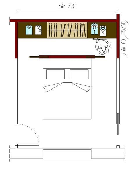 misure minime per cabina armadio - Cerca con Google | architecture ...