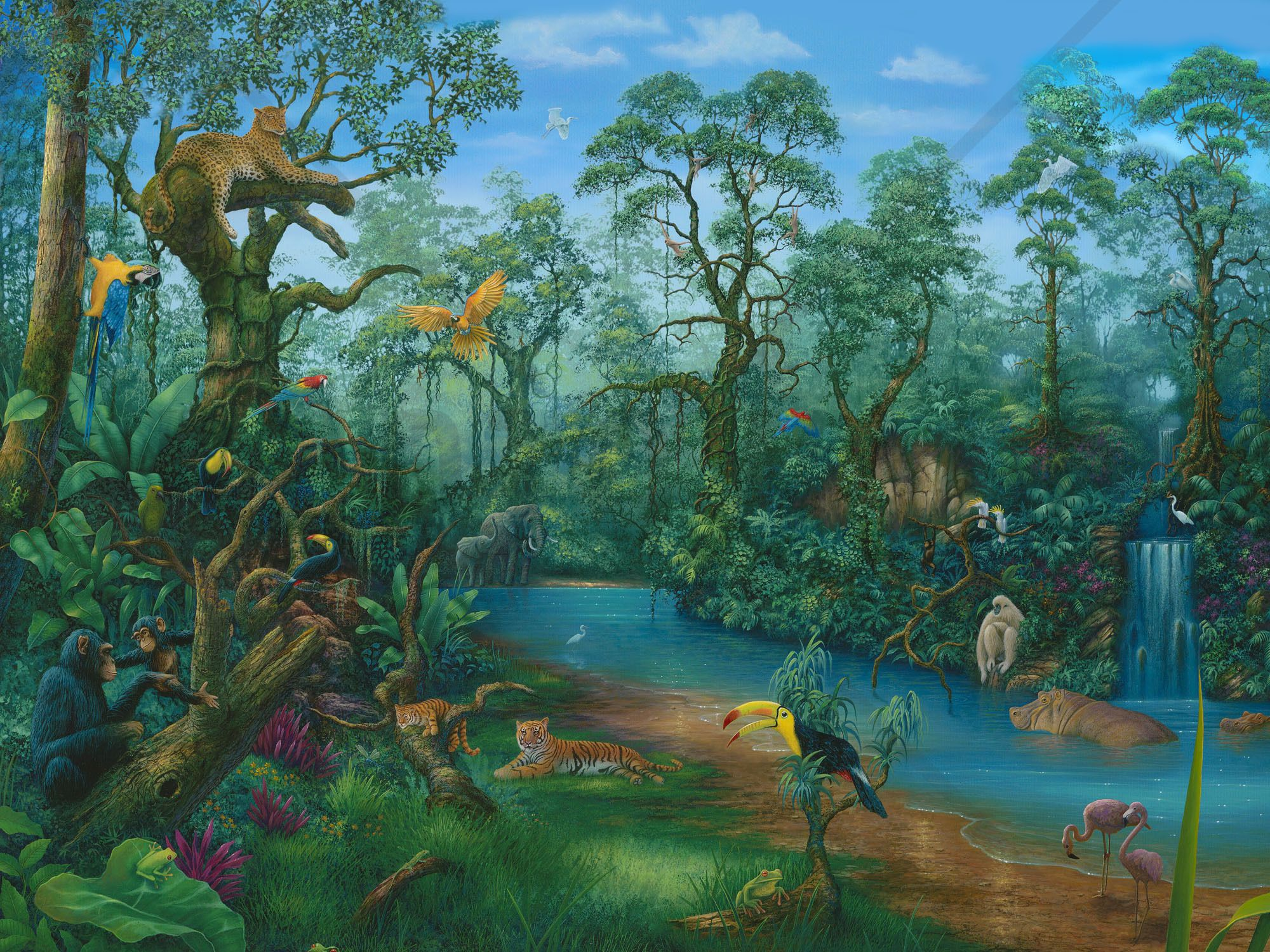 Its a Jungle Out There Wall Mural & Wallpaper wall