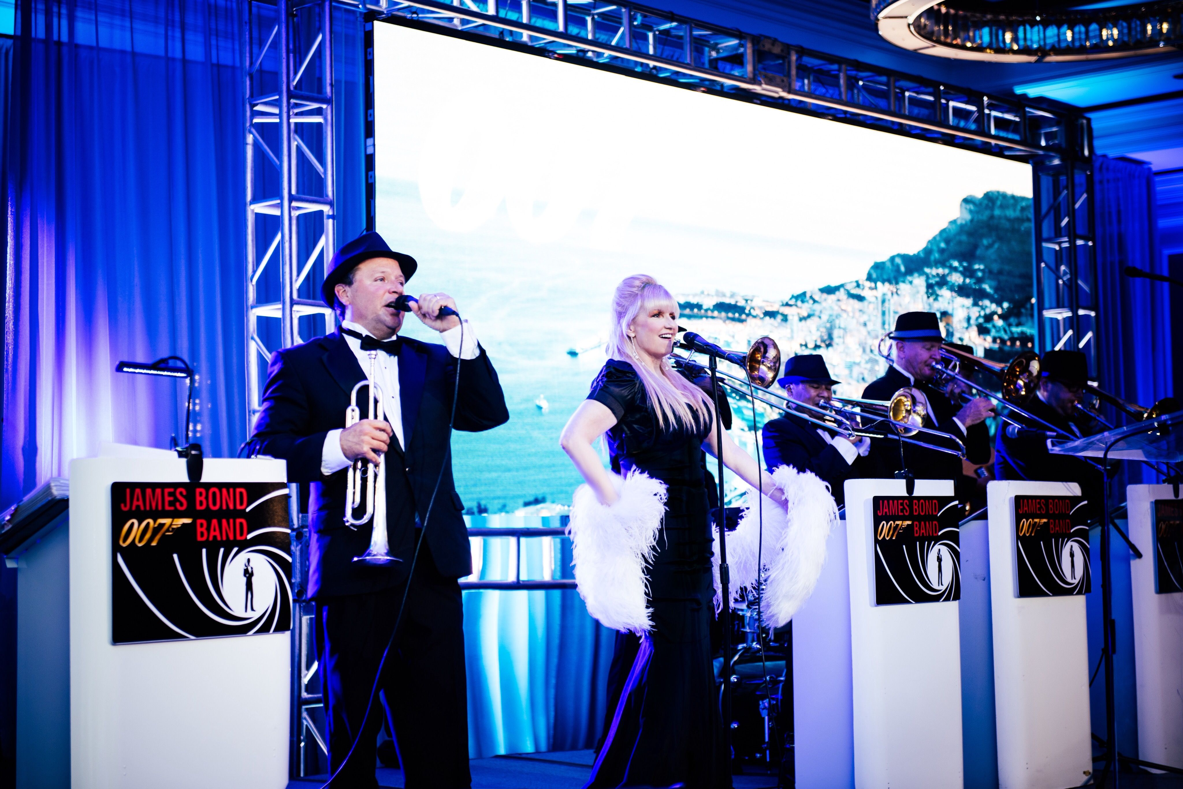 James bond 007 band performs iconic bond themes and james