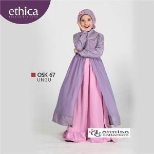 Baju Gamis Pesta Anak Ethica Osk 67 Ungu Dress Brokat Kids Outfits Dress Anak