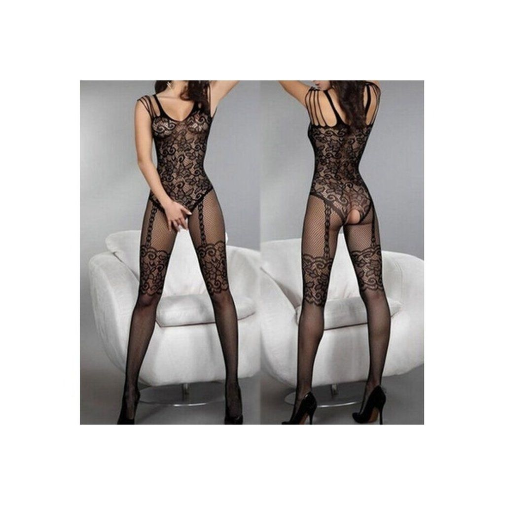 Lady Charming Sexy Open Crotch Stockings Crotchless Fishnet Sheer Body Lingerie Wtmp