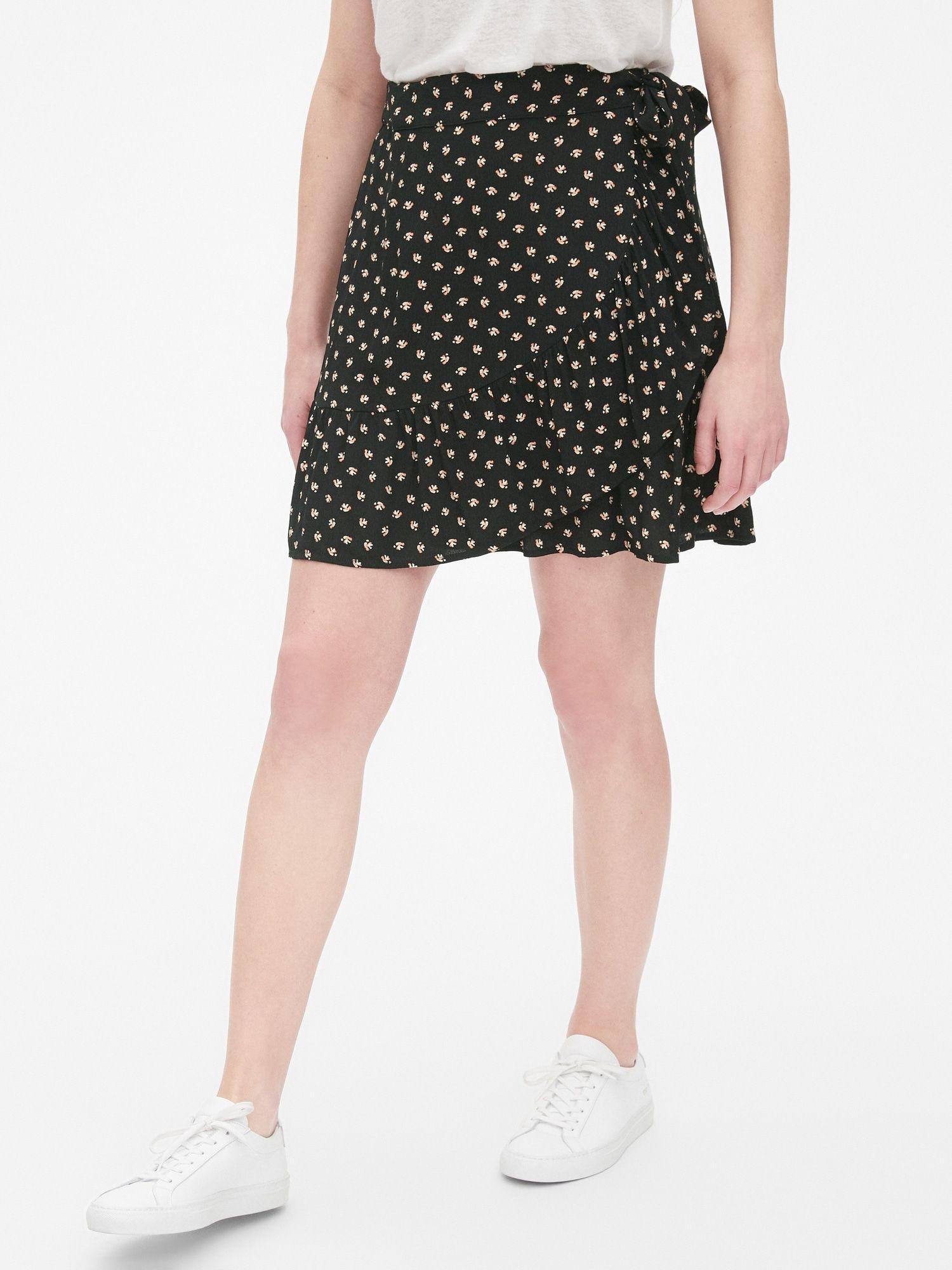 411ff035f7 Print Ruffle Wrap Mini Skirt in 2019   Gap Picks   Mini skirts ...