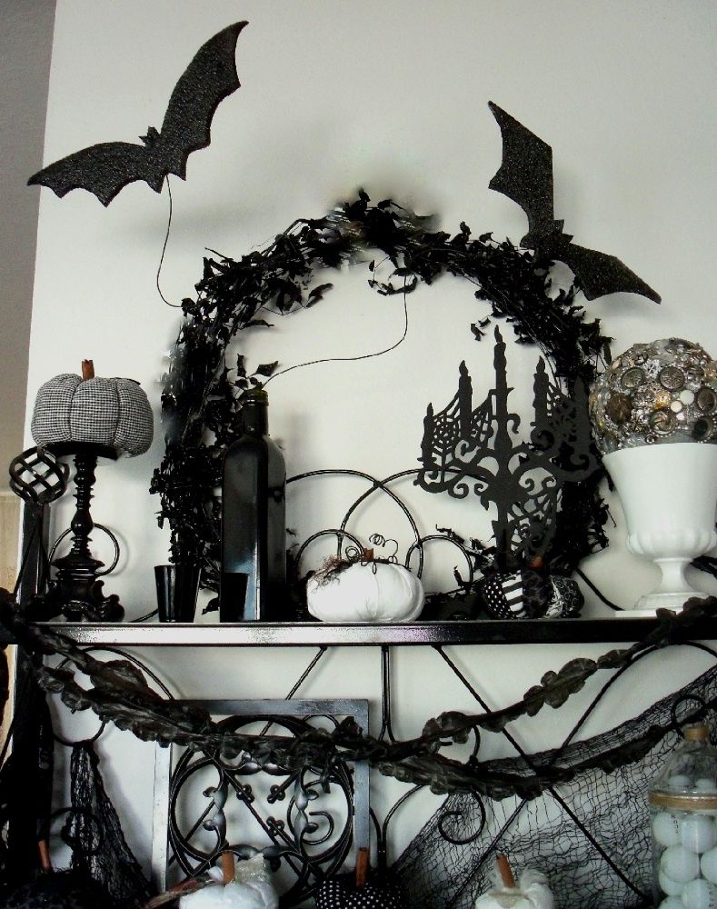 33 ideas for black and white halloween decor halloween halloween rh pinterest com