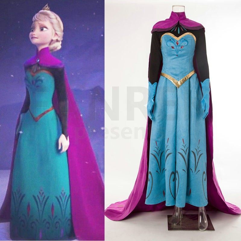 disney movie frozen elsa coronation dress costumes fasching und n hen. Black Bedroom Furniture Sets. Home Design Ideas