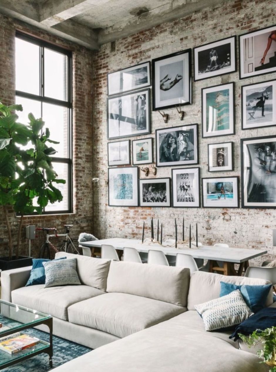 Exposed Brick Wall Living Room Ideas | Baci Living Room
