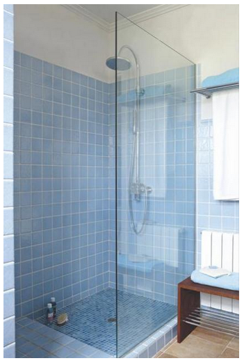 Ducha de obra gresite ba o bathroom tiles y home decor - Platos de ducha de gresite ...