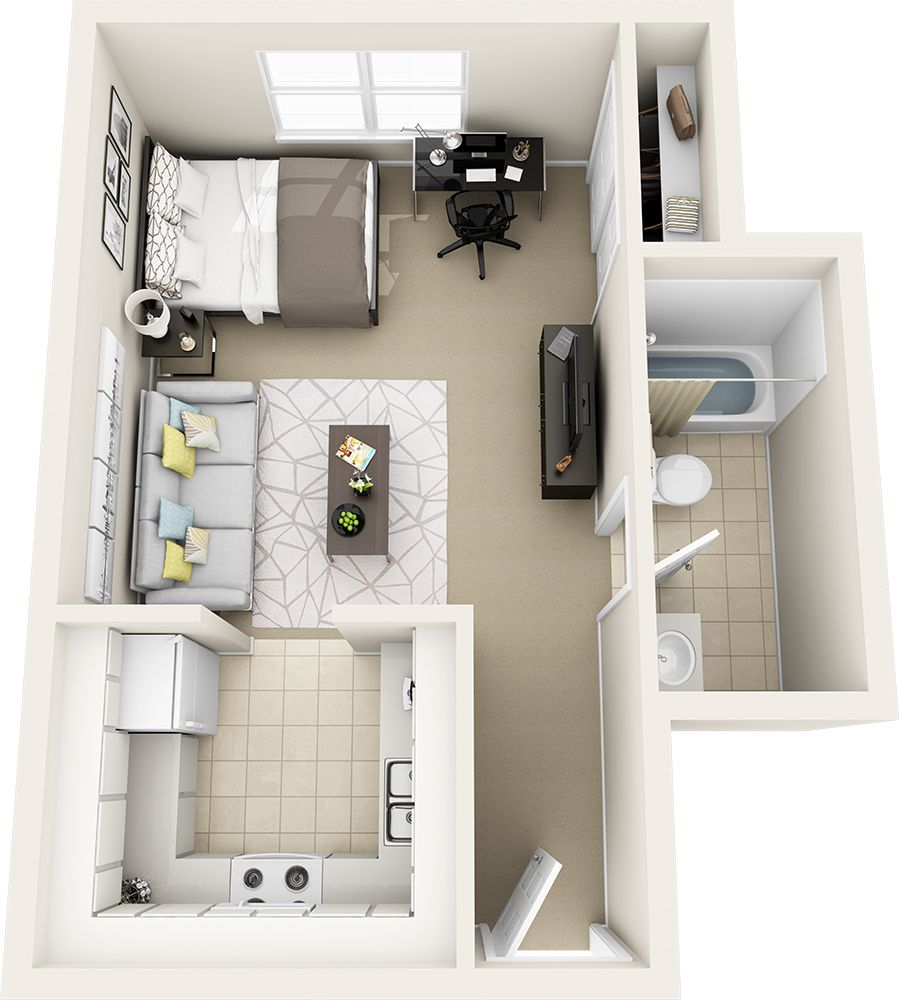 Studio Apartment Floor Plan Studio Apartment Floor Plans Apartment Plans Sims House Plans