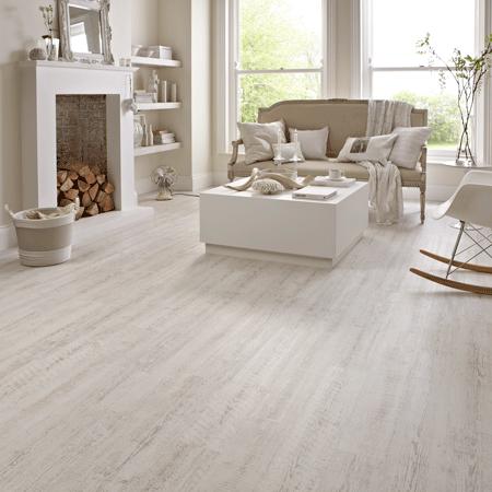 KP105 White Painted Pine White vinyl flooring, Luxury
