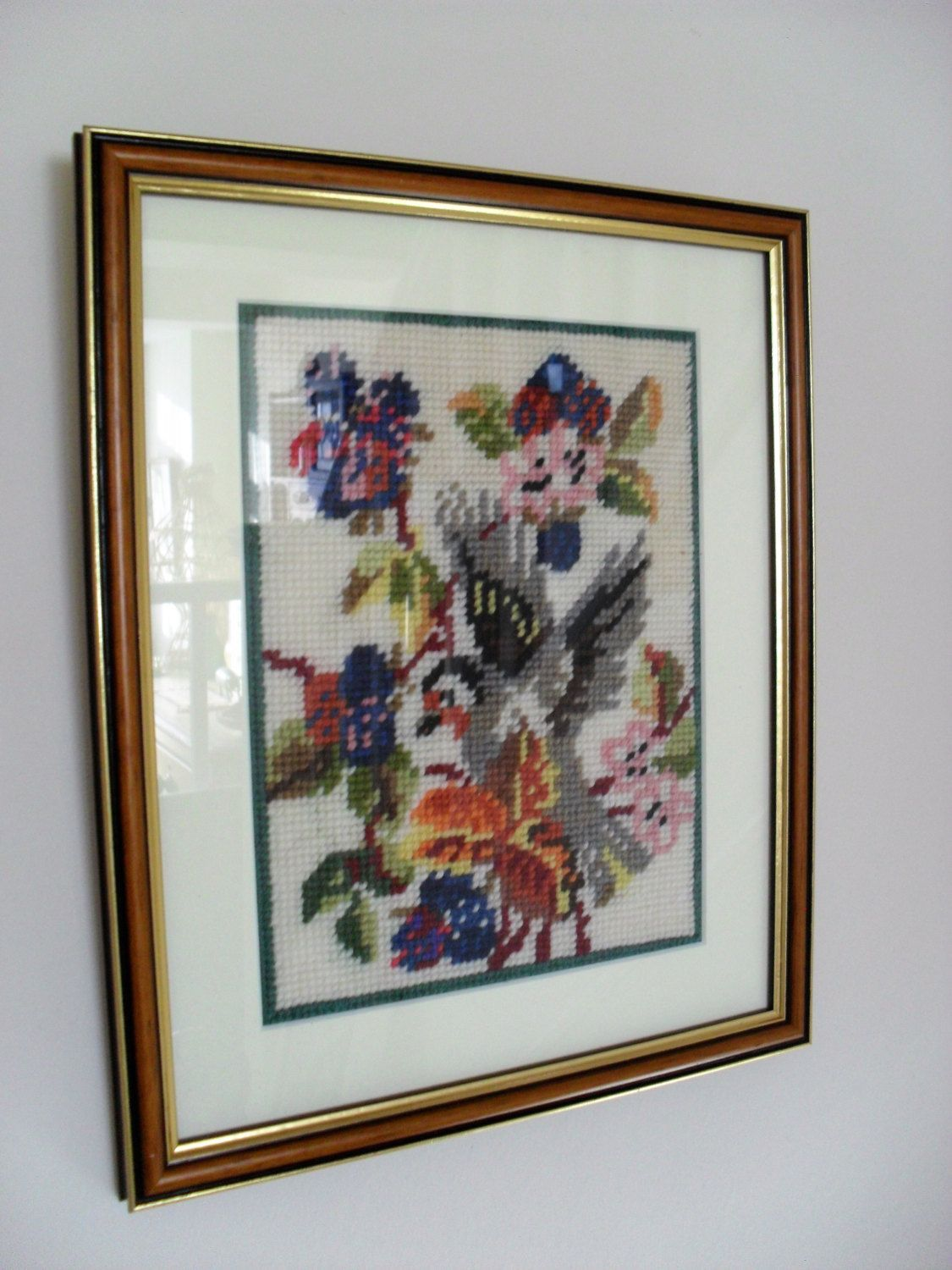 Framed TAPESTRY Picture RETRO Wall Art Hand