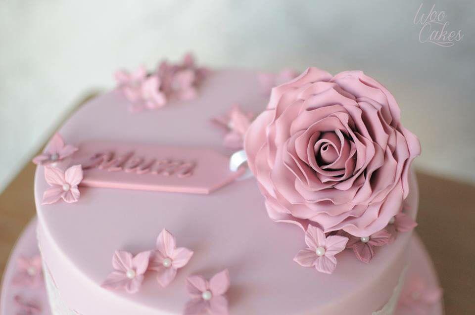 Birthday Cake With Name Tag ~ Pink mum birthday cake victoria sponge cake topped with sugar