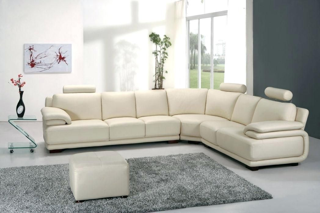 Awesome White Leather Sofa Interior Design Arts Beautiful White