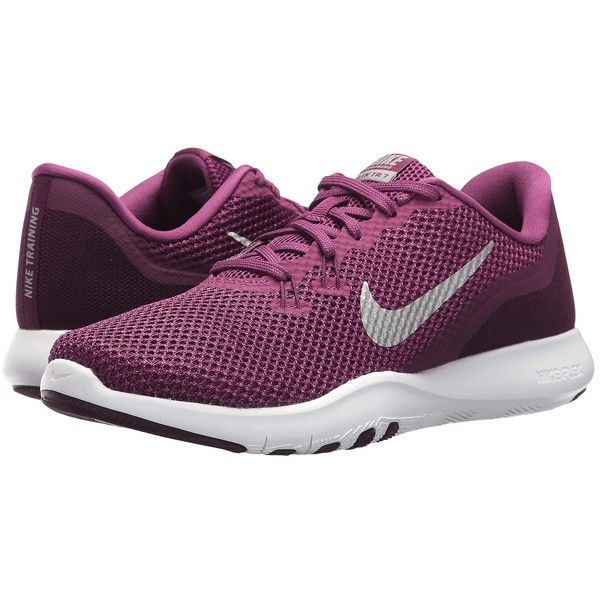 Nike Flex TR 7 Size 6.5 In Grey And White With Hints Of Berry Purple