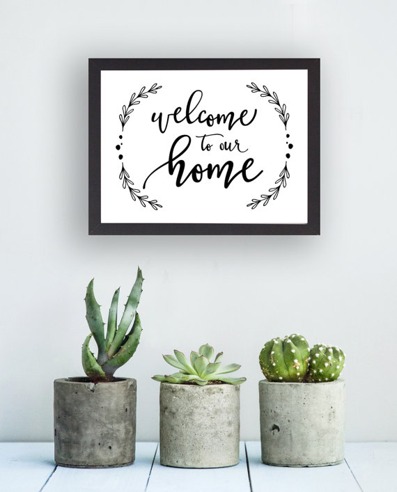 Printable, Welcome to Our Home, Instant Download, Handmade, Wall Art, Home Decor, Wall Decor, Calligraphy, DIY, 8x10  and 5x7 , No  4006 is part of home Letters Friends - etsy S T O R E⋆H O U R S Tumbalina Studio shop hours Mon  Fri 10AM 5PM EST Contact hellotumbalina@gmail com or send us a convo We will do our best to respond back ASAP, within 24 hours, but usually much sooner  Thank you so much for visiting Tumbalina Studio!
