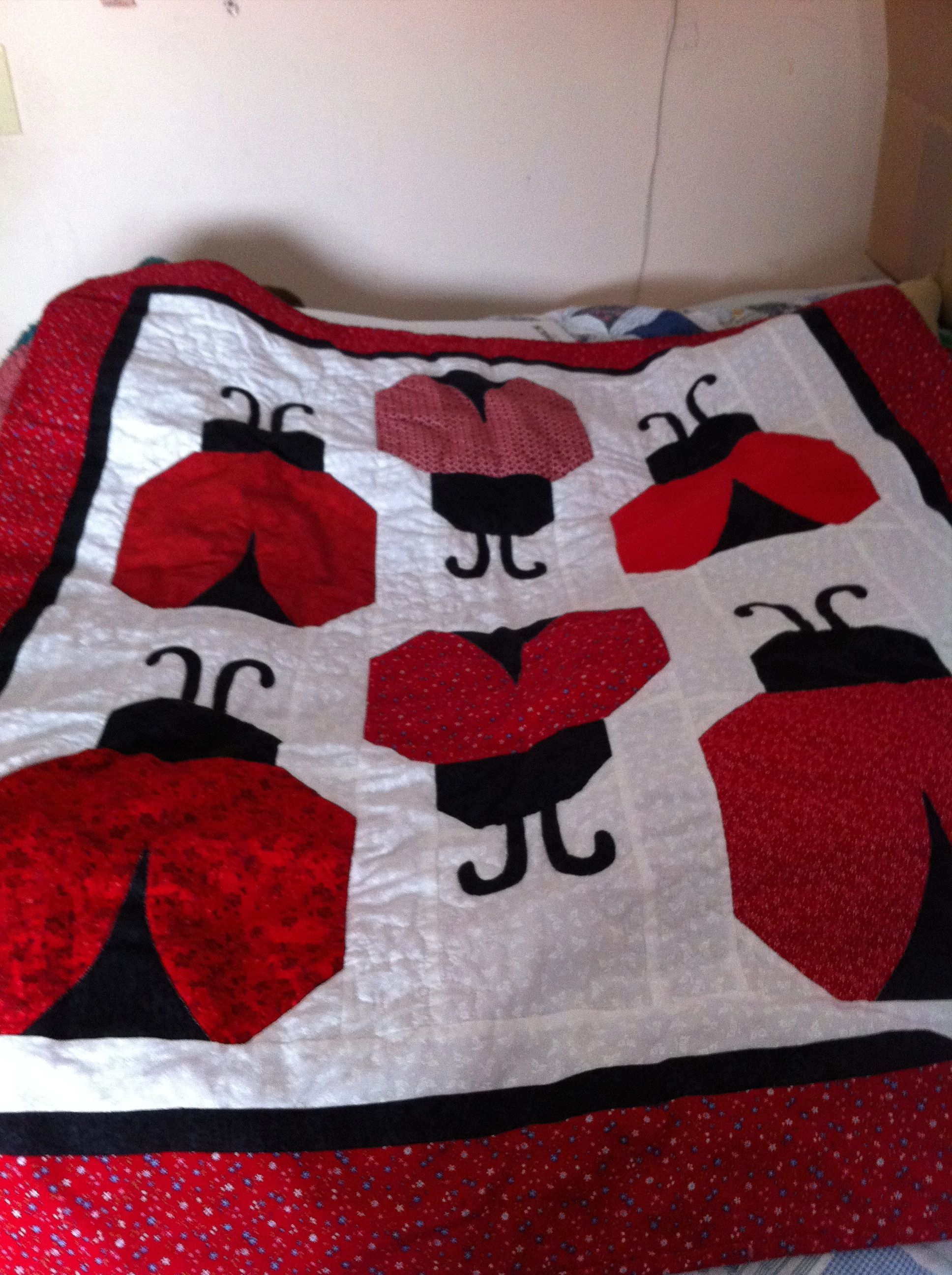 Ladybug Quilt | General Sewing and Crafts | Pinterest | Ladybug ... : lady bug quilts - Adamdwight.com