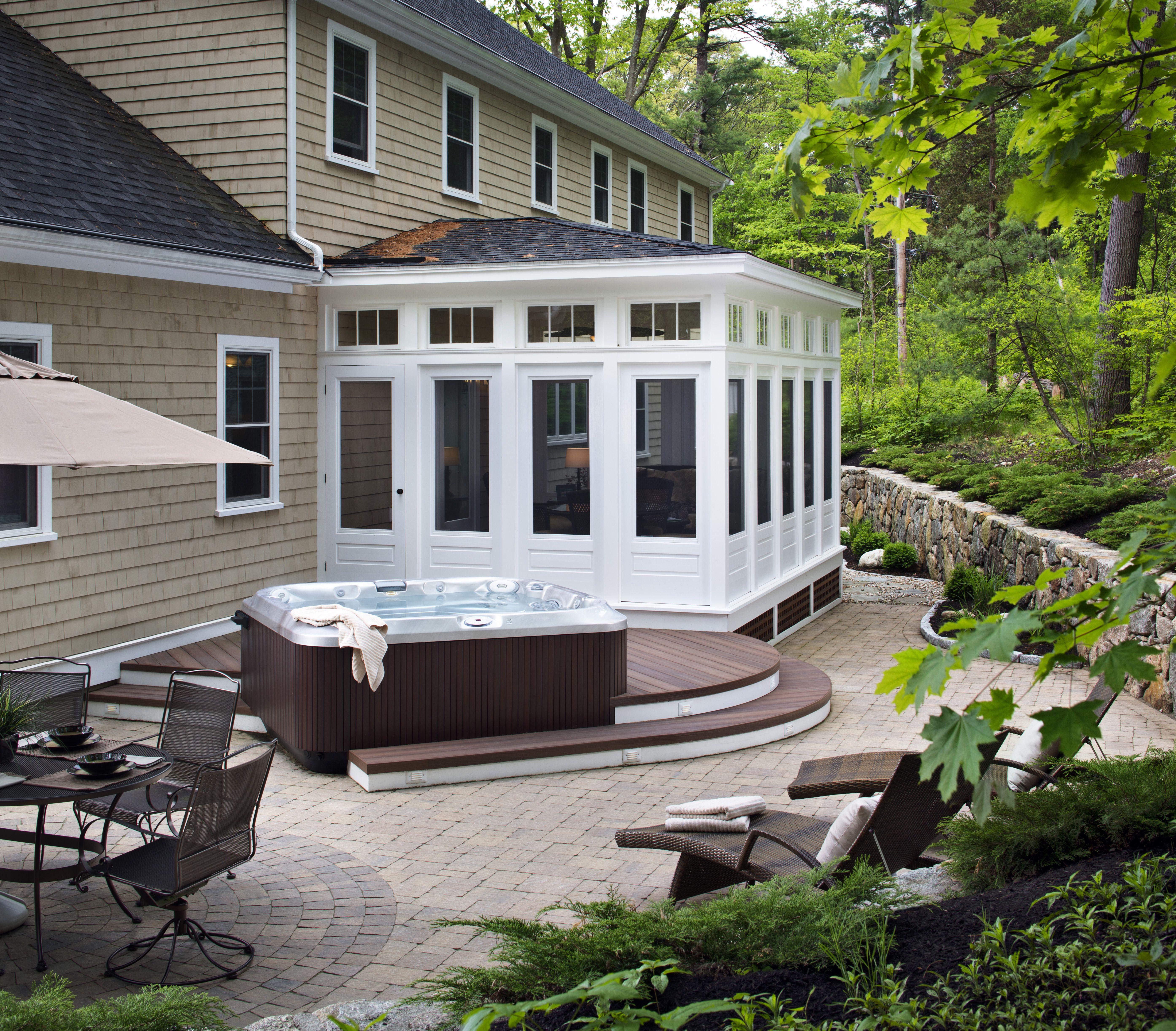 течение круглая терраса к дому проекты фото вашем доме
