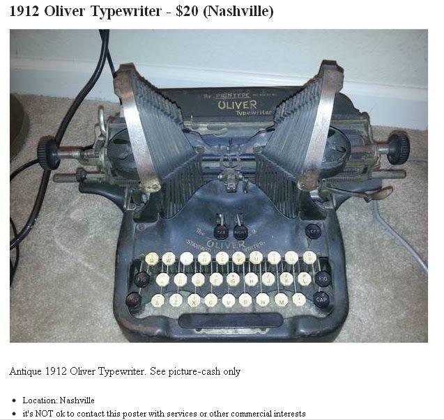20 1920 Oliver Typewriter Found On Craigslist Typewriter Vintage Typewriters Oliver