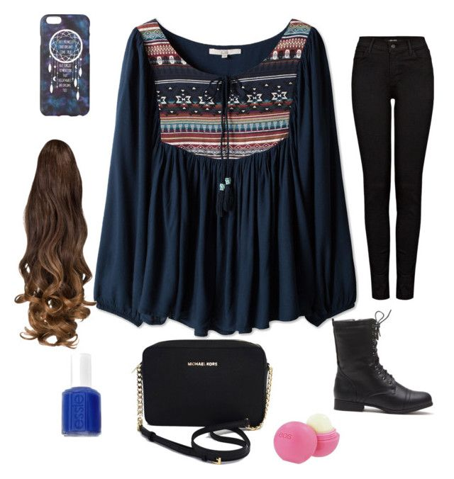 """""""1"""" by arshie1171 on Polyvore featuring J Brand, Michael Kors, Essie and Eos"""