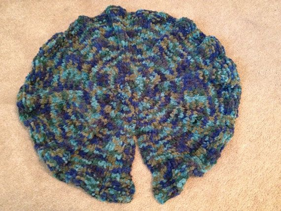 lily pad photo prop hand knitted