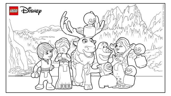 Have Lots Of Fun With Frozen Lego Movie Coloring Pages Lego
