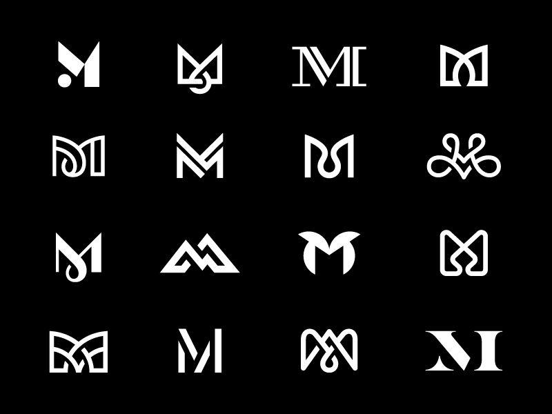 M Eighth Finals Geometric Logo Monogram Logo Design Logo Design