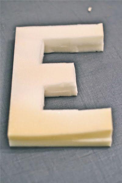 Dos formas de hacer letras de cemento DIY