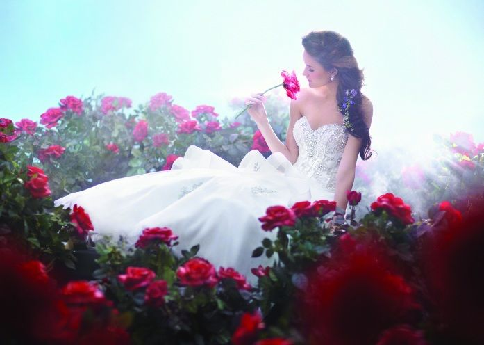Beauty And The Beast Belle Wedding Dress Ad