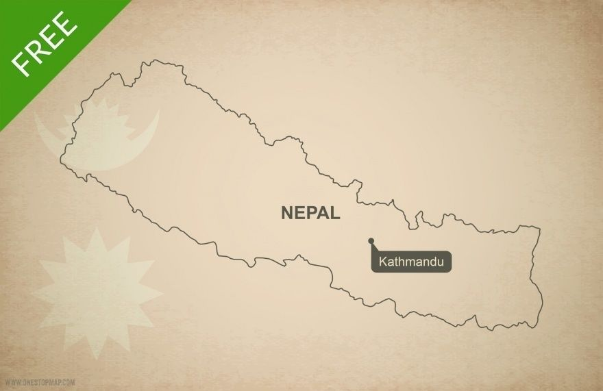 Free vector map of Nepal outline Free