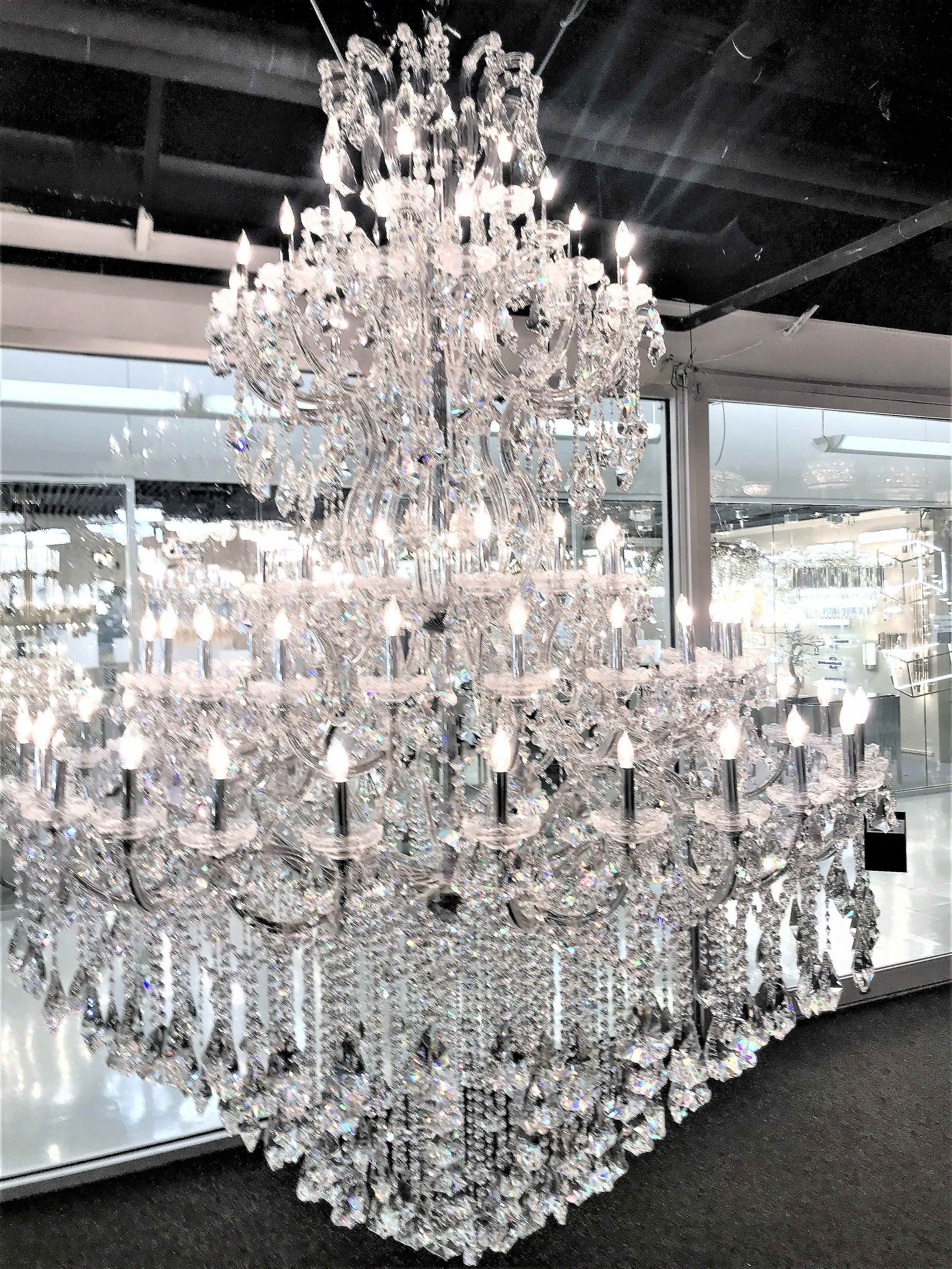 Grand Maria Theresa 72 Light Crystal Chandelier Tall Extra Large 3 Tier 78 X126 Foyer Staircase Crystal Chandelier Chandelier Light
