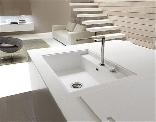 Contemporary Italian Kitchen Island With Water Faucet Waschbecken Design Spulbecken Design Spule Mit Unterschrank