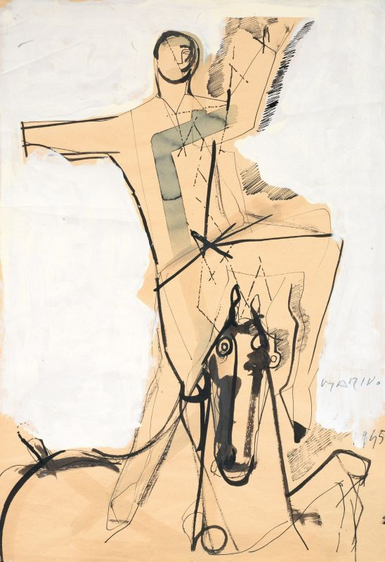 Marino Marini / Cavallo e cavaliere 1945