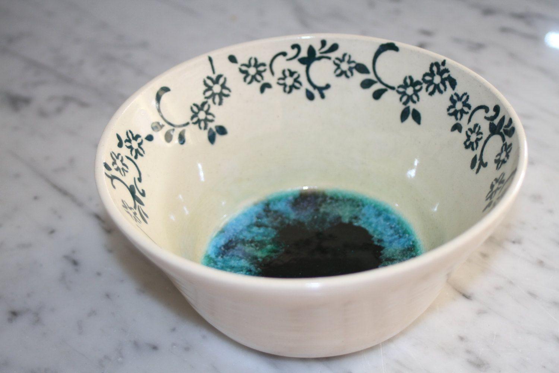 Decorative Ceramic Bowl Handmade Bowl Decorative Ceramic Bowl With Glass Bottom Home Decor