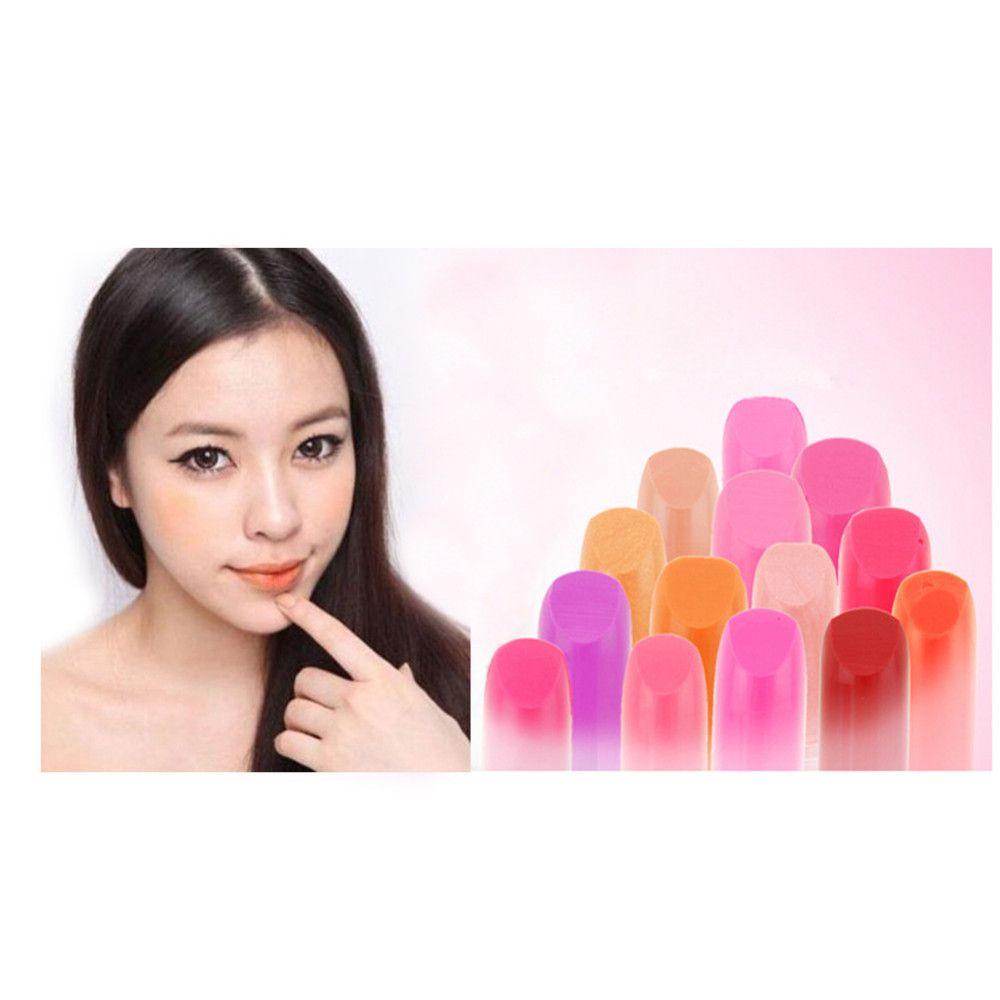 1 개 14 색상 여성 여자 멀티 색상 아름다움 메이크업 방수 립스틱 립글로스 립 밤 섹시한 메이크업 아름다움 도구