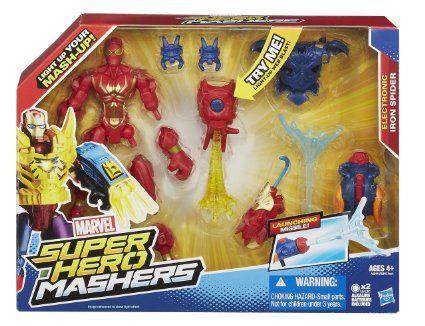 Super Hero Mashers Electronic Iron Spider Figure