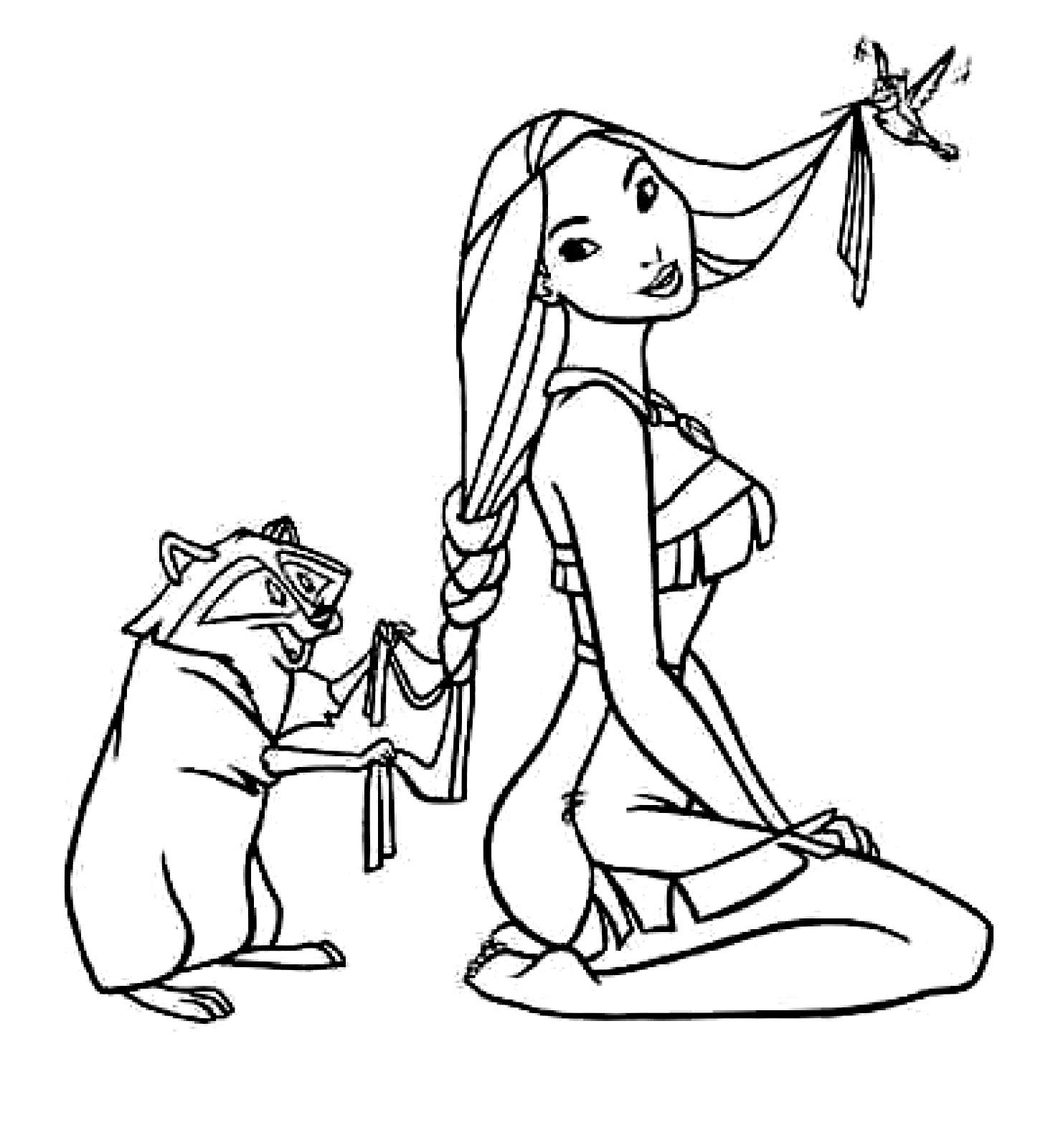 Disney princess coloring pages pocahontas - Cloring Pages Printable Pocahontas Coloring Pages Coloring Me