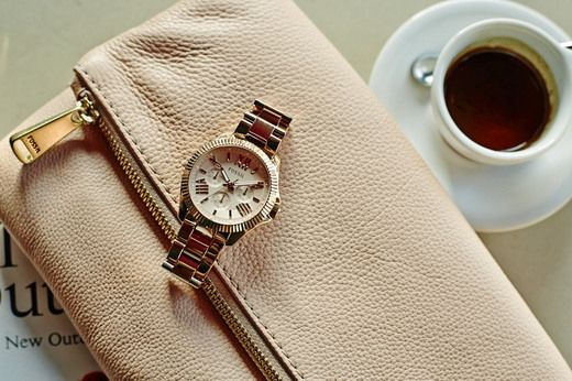 Cecile Multifunction Rose-Tone Stainless Steel Watch - $145.00
