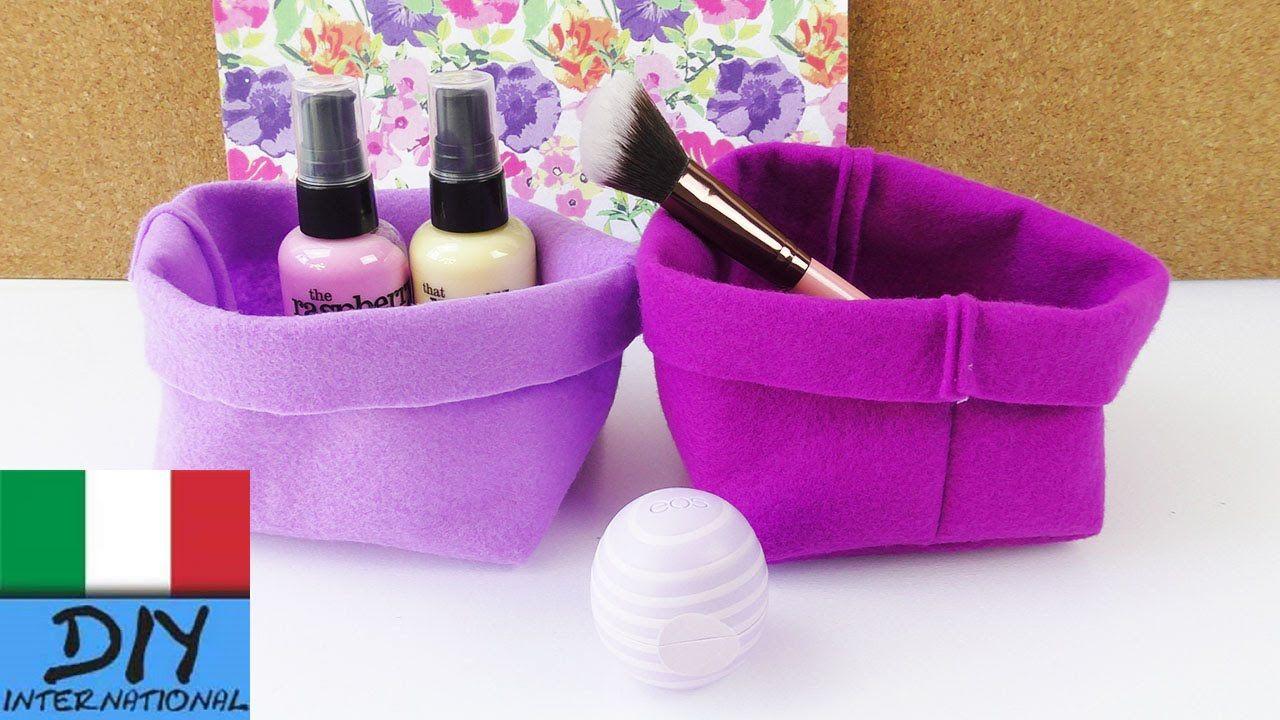 Idee Cucito Per Il Bagno : Diy contenitore di stoffa come cucire un piccolo cestino per il